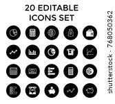 economy icons. set of 20... | Shutterstock .eps vector #768050362