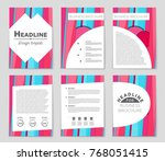 abstract vector layout... | Shutterstock .eps vector #768051415
