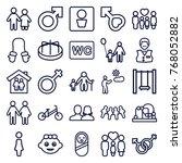 set of 25 boy outline icons... | Shutterstock .eps vector #768052882