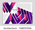 abstract vector layout... | Shutterstock .eps vector #768053506