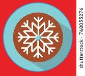 christmas cookie. gingerbread... | Shutterstock . vector #768055276
