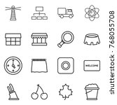 thin line icon set   lighthouse ... | Shutterstock .eps vector #768055708