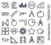 set of 25 geometric outline... | Shutterstock .eps vector #768056152