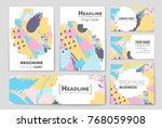 abstract vector layout... | Shutterstock .eps vector #768059908