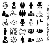set of 25 manager filled and... | Shutterstock .eps vector #768065812