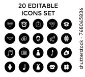 classic icons. set of 20... | Shutterstock .eps vector #768065836