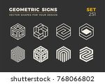 set of eight minimalistic... | Shutterstock .eps vector #768066802