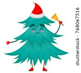 christmas tree character with... | Shutterstock .eps vector #768067516