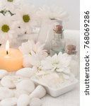 natural cosmetics  freshness | Shutterstock . vector #768069286