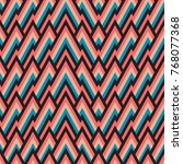 seamless pattern with tribal... | Shutterstock . vector #768077368