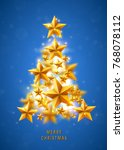 christmas and new years blue... | Shutterstock .eps vector #768078112