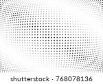 abstract halftone wave dotted... | Shutterstock .eps vector #768078136