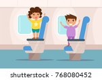 people the plane.  vector.... | Shutterstock .eps vector #768080452