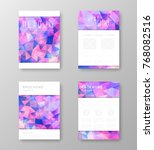 brochure template layout with... | Shutterstock .eps vector #768082516