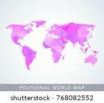 polygonal world map for... | Shutterstock .eps vector #768082552