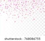 heart confetti falling down... | Shutterstock .eps vector #768086755