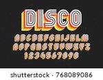 80's retro font  disco style ... | Shutterstock .eps vector #768089086