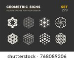 set of eight minimalistic... | Shutterstock .eps vector #768089206