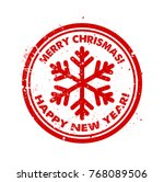 christnas red rubber stamp... | Shutterstock .eps vector #768089506