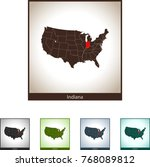 map of indiana | Shutterstock .eps vector #768089812