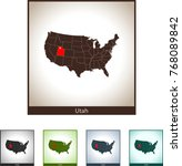 map of utah | Shutterstock .eps vector #768089842