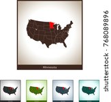 map of minnesota | Shutterstock .eps vector #768089896