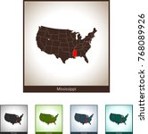 map of mississippi | Shutterstock .eps vector #768089926