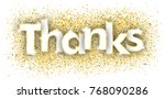 golden particles with the text... | Shutterstock .eps vector #768090286