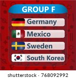 russian soccer cup   group f | Shutterstock .eps vector #768092992