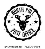 North Pole Post Office Rubber...