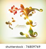 abstract colorful floral vector ... | Shutterstock .eps vector #76809769
