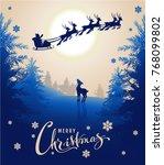 merry christmas card design... | Shutterstock .eps vector #768099802