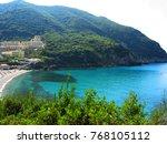 blue lagoon beach coast in the... | Shutterstock . vector #768105112
