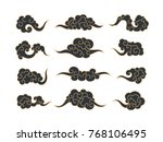 chinese clouds. vector   Shutterstock .eps vector #768106495