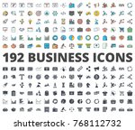 business and finance icon... | Shutterstock .eps vector #768112732
