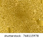 gold sequins texture. abstract... | Shutterstock .eps vector #768115978
