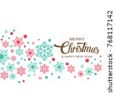 merry christmas background with ... | Shutterstock .eps vector #768117142