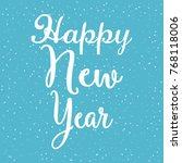 happy new year background | Shutterstock .eps vector #768118006