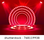 stage podium with lighting ... | Shutterstock .eps vector #768119938