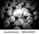 led light bulbs with glowing... | Shutterstock . vector #768120025