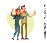 corporate party vector. smiling ... | Shutterstock .eps vector #768122875