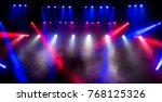 free stage with lights ... | Shutterstock . vector #768125326