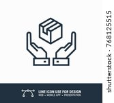 icon logistic label hands... | Shutterstock .eps vector #768125515