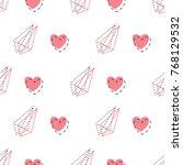 memphis style seamless pattern...   Shutterstock .eps vector #768129532