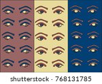 pop art eye pattern on a color... | Shutterstock .eps vector #768131785