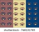 pop art eye pattern on a color... | Shutterstock .eps vector #768131785