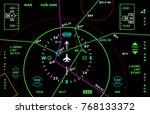 vector art with air navigation... | Shutterstock .eps vector #768133372