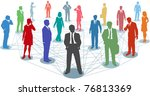 large group of silhouette... | Shutterstock .eps vector #76813369