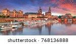 dresden  germany old town... | Shutterstock . vector #768136888