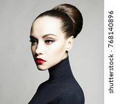 fashion art studio portrait of... | Shutterstock . vector #768140896